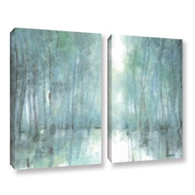 Brushstone Crisp Breeze 2-pc. Gallery Wrapped Canvas Wall Art
