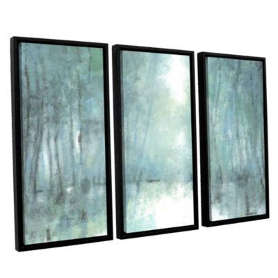 Brushstone Crisp Breeze 3-pc. Floater Framed Canvas Wall Art