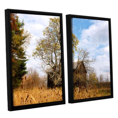 Brushstone Cvnp Barn 2-pc. Floater Framed Canvas Wall Art