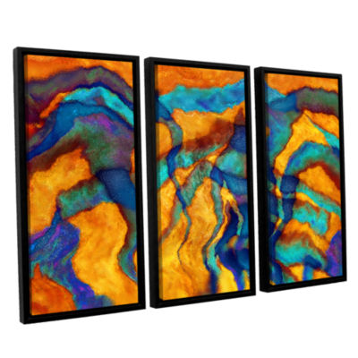 Brushstone Cross Currents 3-pc. Floater Framed Canvas Wall Art