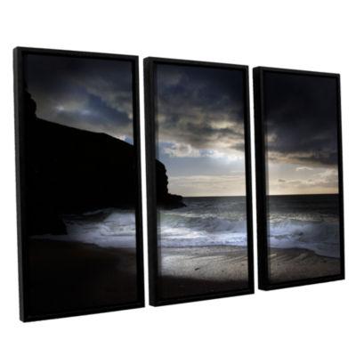 Brushstone Dark Light 2 3-pc. Floater Framed Canvas Wall Art