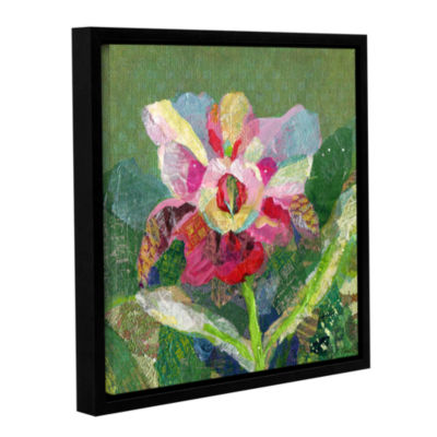 Brushstone Dancing Orchids II Gallery Wrapped Floater-Framed Canvas Wall Art