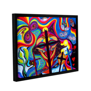 Brushstone Crosses To Bear Gallery Wrapped Floater-Framed Canvas Wall Art