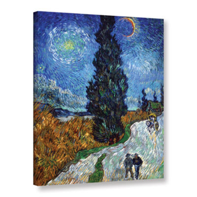 Brushstone Brushstone Country Road In Provence Gallery Wrapped Canvas Wall Art
