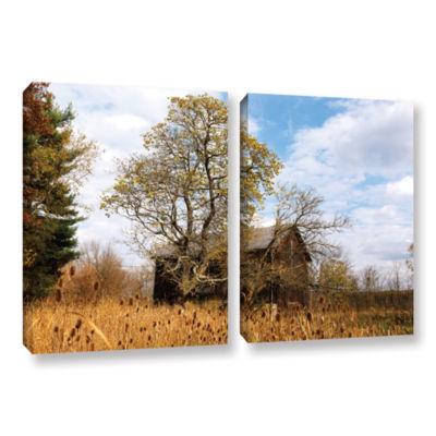 Brushstone Cvnp Barn 2-pc. Gallery Wrapped CanvasWall Art
