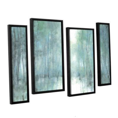 Brushstone Crisp Breeze 4-pc. Floater Framed Staggered Canvas Wall Art