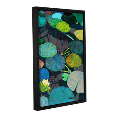 Brushstone Dark Shadows Gallery Wrapped Floater-Framed Canvas Wall Art