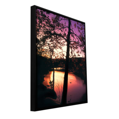 Brushstone Deer Creek Afterglow Gallery Wrapped Floater-Framed Canvas Wall Art