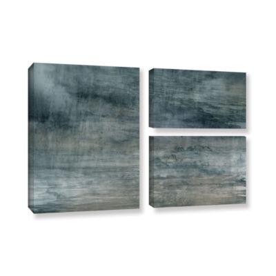 Brushstone Brushstone Cyan Sea 3-pc. Flag GalleryWrapped Canvas Wall Art