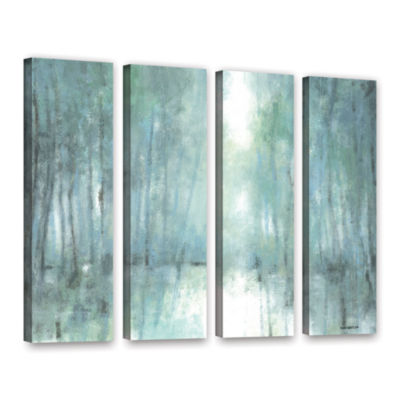 Brushstone Crisp Breeze 4-pc. Gallery Wrapped Canvas Wall Art