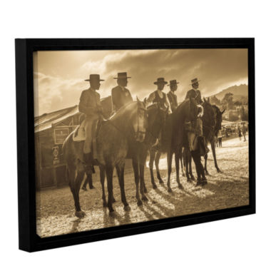 Brushstone Cowboy Talk Gallery Wrapped Floater-Framed Canvas Wall Art
