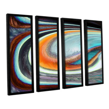 Brushstone Currents 4-pc. Floater Framed Canvas Wall Art
