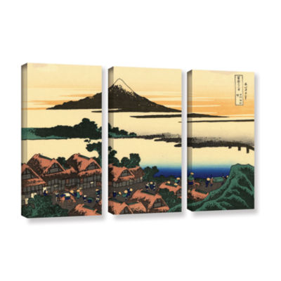Brushstone Brushstone Dawn At Isawa In The Kai Province 3-pc. Gallery Wrapped Canvas Wall Art