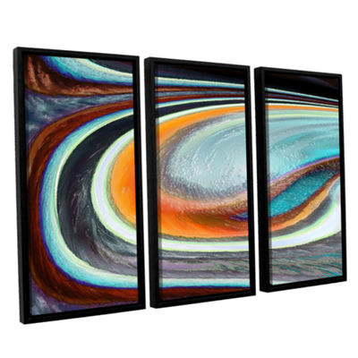 Brushstone Currents 3-pc. Floater Framed Canvas Wall Art