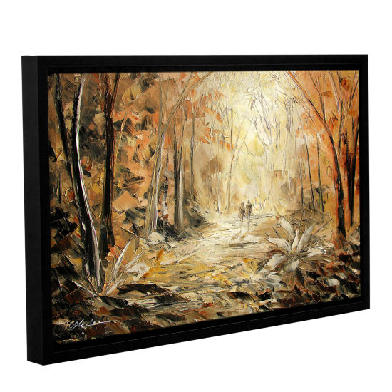 Brushstone Couple's Stroll Gallery Wrapped Floater-Framed Canvas Wall Art