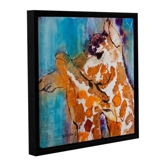 Brushstone Cuddle I Gallery Wrapped Floater-FramedCanvas Wall Art
