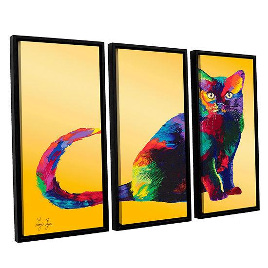 Brushstone Dark Velvet 3-pc. Floater Framed CanvasWall Art