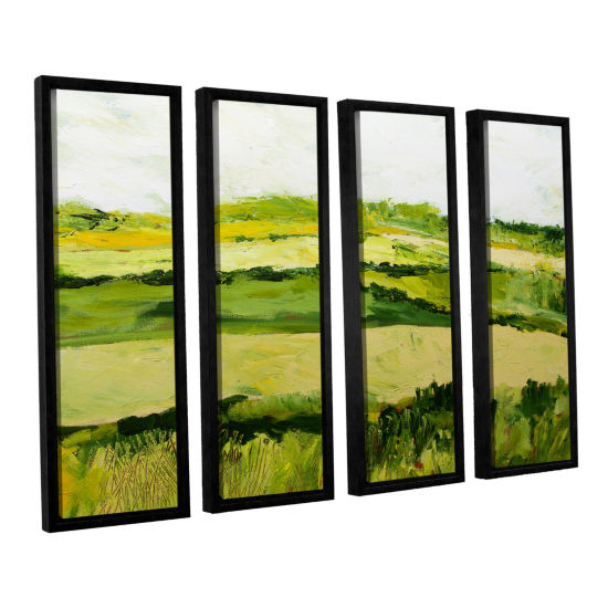 Brushstone Cottonworth 4-pc. Floater Framed CanvasWall Art
