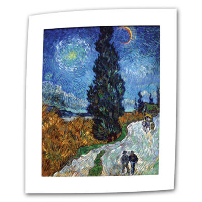 Brushstone Country Road In Provence Canvas Wall Art
