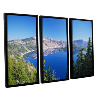 Brushstone Crater Lake 3-pc. Floater Framed CanvasWall Art