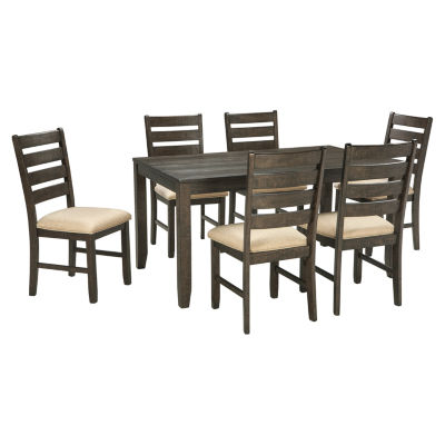 Gentil Signature Design By Ashley® Linwood 7 Piece Rectangular Dining Set