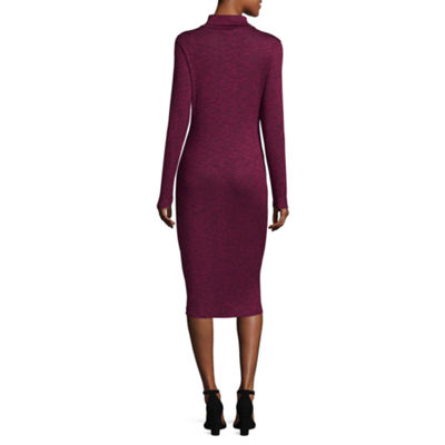 Project Runway Long Sleeve Hacci Foil Bodycon Dress