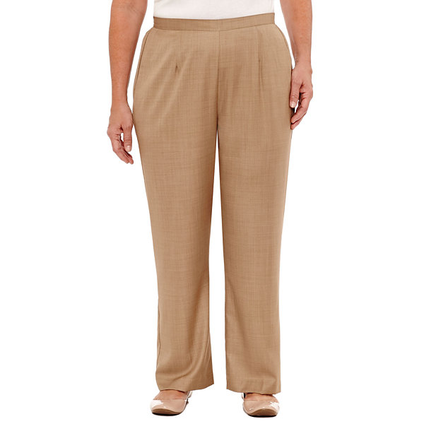 Alfred Dunner Emerald Isle Woven Pull-On Pants