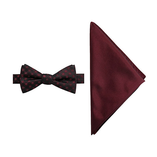 JF J.Ferrar Grid Bow Tie Set