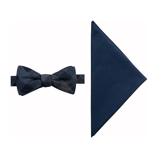 JF J.Ferrar Checked Bow Tie Set