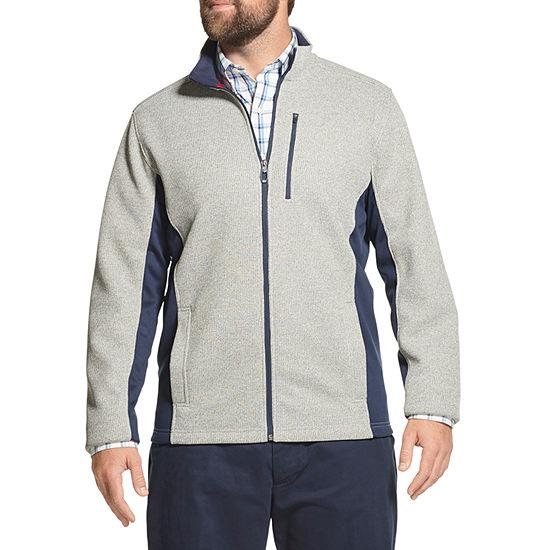 IZOD Big and Tall Shaker Fleece Jacket