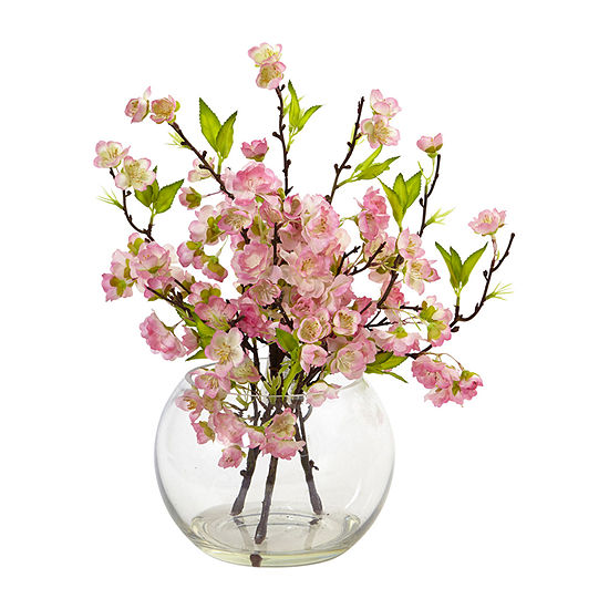Nearly Natural Cherry Blossom In Large Vase Artificial Flowers