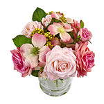 Nearly Natural 10 Rose And Berry Arrangement Artificial Flowers