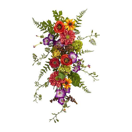 Nearly Natural Garden Flower Teardrop Artificial Flowers