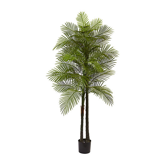 Nearly Natural 7 Double Robellini Palm Tree