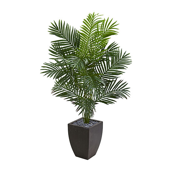 Nearly Natural 5.5 Paradise Artificial Palm Tree In Black Planter