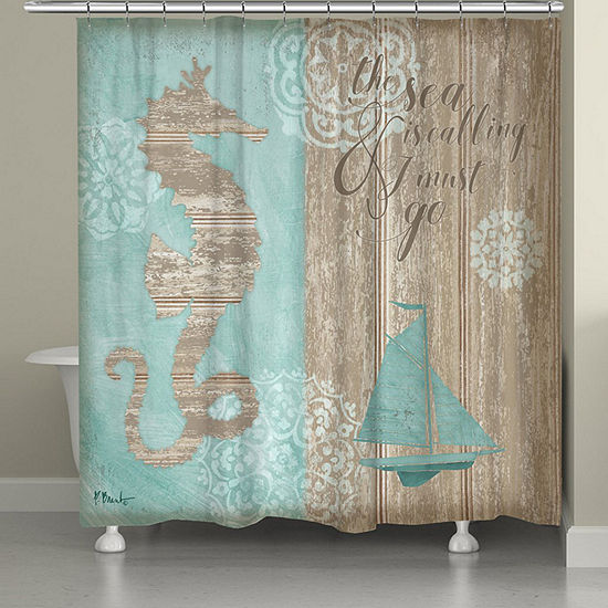 Laural Home Beach Boardwalk Shower Curtain