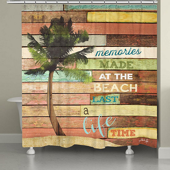 Laural Home Beach Memories Shower Curtain