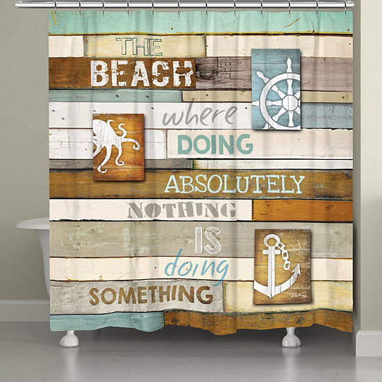 Laural Home Beach Mantra Shower Curtain
