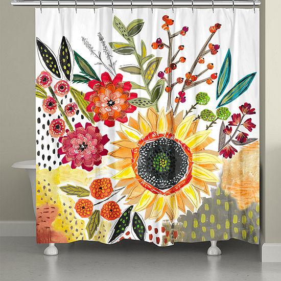 Laural Home Sundaze Blooms Shower Curtain