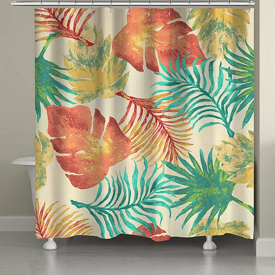 Laural Home Tropical Havana Palm Shower Curtain