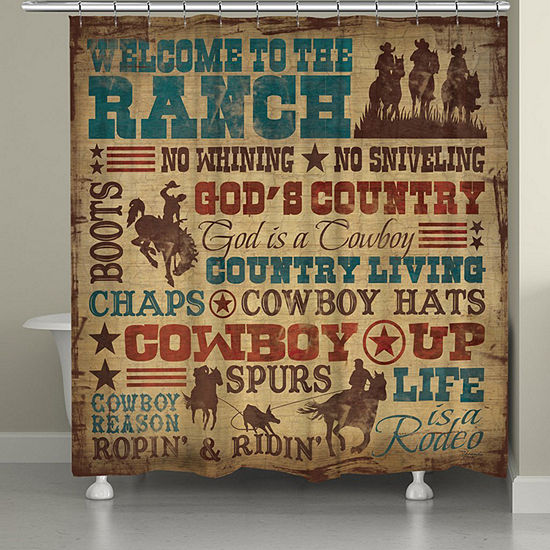 Laural Home Welcome To The Ranch Shower Curtain
