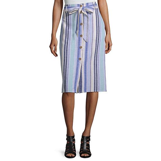 a.n.a Womens Mid Rise Midi A-Line Skirt
