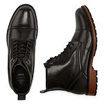 Collection by Michael Strahan  Mens Leto Flat Heel Lace Up Boots