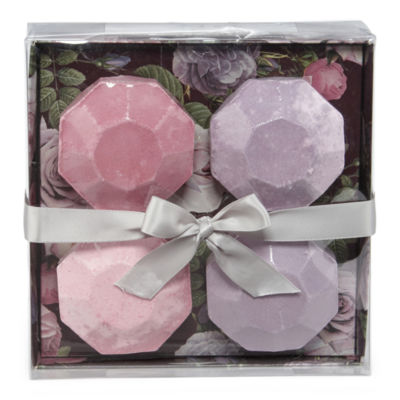 Tri-Coastal Design Burgundy Floral 4-pc. Bath Bombs