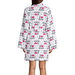 Pj Couture Womens Plush Kimono Robes Long Sleeve Short Length