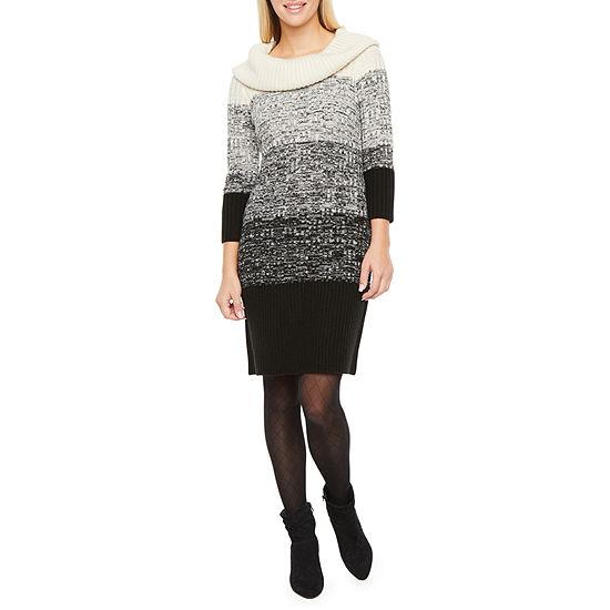 Studio 1 3/4 Sleeve Sweater Dress