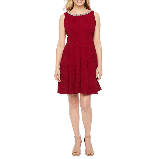 Studio 1-Petite Sleeveless Fit & Flare Dress