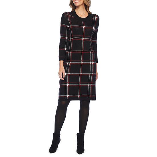 Liz Claiborne 3/4 Sleeve Sweater Dress
