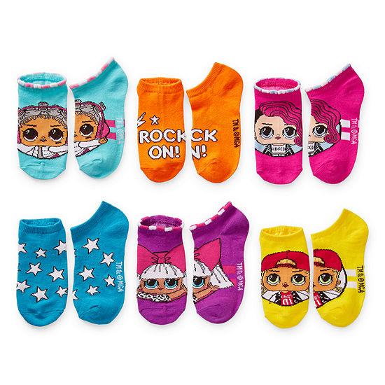 LOL Surprise! Little Kid Girls 6 Pair No Show Socks