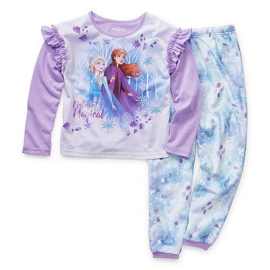 Disney Collection Girls 2-pc. Frozen Pant Pajama Set Preschool / Big Kid